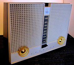 "Emerson ""Atomic Age"" radio original FM only Toaster model Mid Century all tube!! #EMERSONORIGINALTUBERADIO"