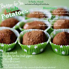 Clean eating. Healthy Irish Potatoes
