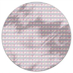 Uneekee Pink Elephants Round Tablecloth