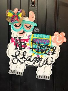 Llama Door Hanger and Wreath Attachment