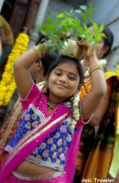 a litte girl with bonalu