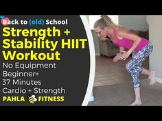 Bodyweight STRENGTH + STABILITY HIIT | Barefoot Body Sculpting Workout without…