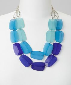Love this Turquoise & Blue Big Bead Necklace on #zulily! #zulilyfinds