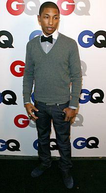Pharrell bow tie + sweater