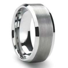 Tungsten Carbide Men's Ladies Unisex Ring Wedding Band 8MM (5/16 inch) Flat Step Brushed Finish Band Comfort Fit (Available in Sizes 8 to 12) size 8 DazzlingRock Collection, http://www.amazon.com/dp/B004FOZIBS/ref=cm_sw_r_pi_dp_fKBpqb08T9JWT