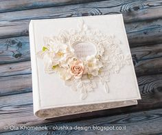"Shabby chic wedding scrapbook album 6x6 inch ""Today, Tomorrow, Always"""