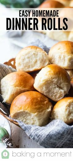 Easy Homemade Dinner Rolls - Soft Homemade Dinner Rolls: These are the best! Love how easy they are to make, and they come out so light, pillowy, and moist! Homemade Dinner Rolls, Dinner Rolls Recipe, How To Make Bread, Food To Make, Amish Bread, Best Comfort Food, Comfort Foods, Savoury Dishes, Weeknight Meals