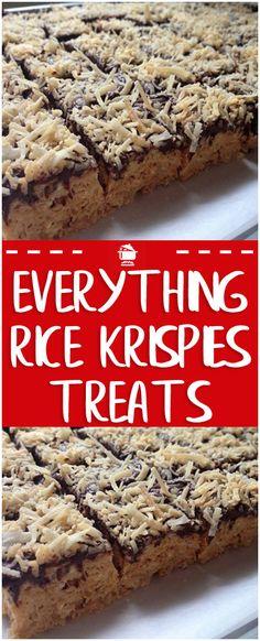 EVERYTHING RICE KRISPIES TREATS  #krispies #recipes