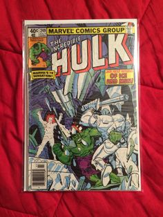Incredible Hulk issue 249 with cover art and art by Steve Ditko