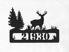 Country and Wildlife Address Sign, Metal Cabin and Wildlife Sign, Personalized Custom House Porch Sign Wooden Spool Crafts, Metal Crafts, Cabin Signs, Porch Signs, Monogram Stencil, Be Our Guest Sign, Plasma Cutter Art, Moose Decor, Custom Metal Signs