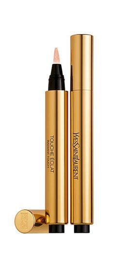 Beauty bag must-have: Yves Saint Laurent 'Touche Éclat' -- It really does work!! Brightens under eyes and is perfect for contouring. Works on any skin type.