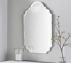 Scarlett Monogram Wall Mirror #potterybarn