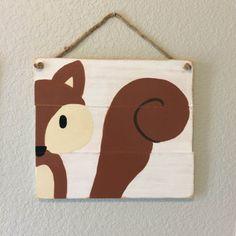 Set of 3 Woodland Animal Paintings Woodland by RusticRageDecor