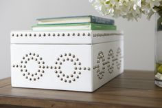 <p>Each box is handcrafted by multi-talented artisans at one studio in India. They tan the leather and hand-treat it to give it its color. They build a wood box, line it with suede, and wrap the leath