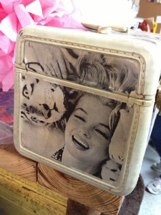 DIY Inspiration for vintage luggage! My vintage Train case that I modpodged MM onto :) Vintage Suitcases, Vintage Luggage, Altered Boxes, Altered Art, Vintage Train Case, Old Trunks, Collage, Upcycled Vintage, Traveling By Yourself