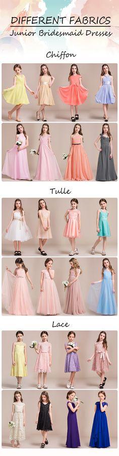 DIFFERENT FABRICS Junior Bridesmaid Dresses! #Juniorbridesmaiddress