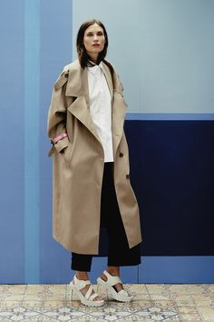 Preen by Thornton Bregazzi | Resort 2015 Collection | Style.com || oversized coats?  Yes please!