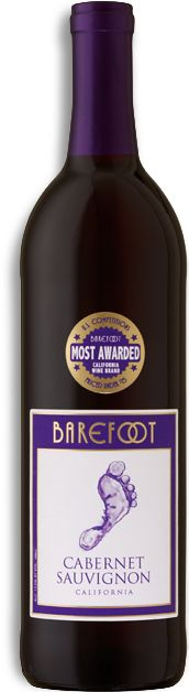 Barefoot Cabernet Sauvignon (a steal at $6.99!) - bold berry flavors, black currants, and a warm vanilla finish