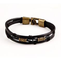 New Fashion Multi-Layer Genuine Bracelete Leather Man Bracelets Casual/Sporty Easy Alloy Hook Link Chain Men Jewelry Pulsera Bohemian Bracelets, Bracelets For Men, Fashion Bracelets, Jewelry Bracelets, Men's Jewelry, Wrap Bracelets, Luxury Jewelry, Leather Bracelets, Leather Jewelry