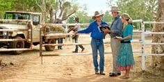 Testemunhas de Jeová pregando num rancho na Austrália
