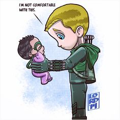 Who's she going to tell Oliver? LOL!! #Arrow #fanart