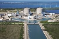 Stock Photo : Aerial view of nuclear power plant on Hutchinson Island, Florida. Hutchinson Island, Creative Typography Design, Nuclear Power, Aerial View, New Image, Marina Bay Sands, Mexico, Florida, Stock Photos