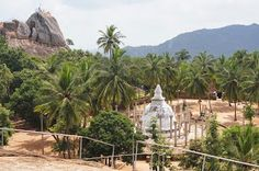 stupa and dagoba, ancient temple ruins Mihintale, cradle of Buddhism, sacred Bodhi tree