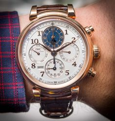 IWC Da Vinci Perpetual Calendar Chronograph - Part of our New released article about the Top 11 Watches Of SIHH 2017 & An Industry Holding On Tight. Join Ariel Adams's insight on the state of the industry and key highlights of this year's edition of the luxurious Geneva watch fair... Read about it: http://www.ablogtowatch.com/top-11-watches-sihh-2017-industry-holding-tight/ #ablogtowatch