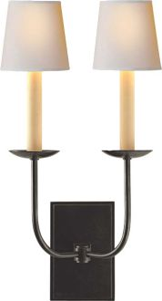 """Powder room 18"""" h x 10"""" w x 7"""" ext Other finishes TT DOUBLE WALL LIGHT"""