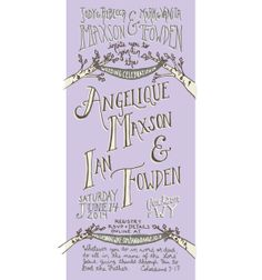 SAMPLE// Violet Aspen Tree Wedding Invitation by LeafandPen, $3.50  Violet handlettered custom wedding invitation! Can be any color, any text