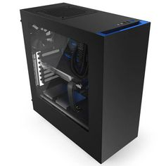 NZXT S340 No Power Supply ATX Mid Tower (Black/Blue)