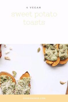 Not 1 but 4 delicious, vegan healthy ways to get your fix of sweet potato toast! Healthy Breakfasts, Easy Healthy Breakfast, Vegan Breakfast Recipes, Vegan Snacks, Healthy Snacks, Vegan Recipes, Sweet Potato Slices, Sweet Potato Toast, Plant Based Diet