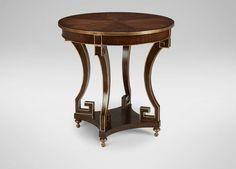 "Ethan Allen- Lockwood end table item# 358536594 30"" diameter, 28"" h"