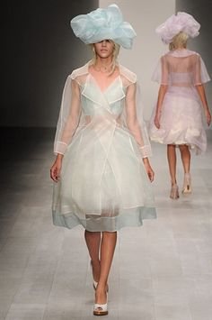 John Rocha Womenswear Spring/Summer 2013 Transparent trench dresses - like delicate jellyfishes