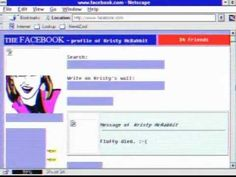 What if Facebook was invented in the 90's? Love this. Maybe they will do one for Pinterest as well?