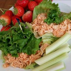 Clean Pulled Buffalo Chicken Wraps Recipe
