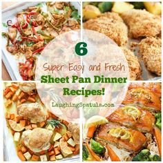 Get your dinner on the table quick with my Super Easy and Fresh Sheet Pan Dinner recipes! Roast Chicken Sheet Pan Dinner MY LATEST VIDEOS Savory roast chicken with potatoes (sweet or white will work!), carrots and herbs.   Chicken Fajita Sheet Pan Dinner The king of all sheet pan dinners!  Grab some tortillas and...Read More »