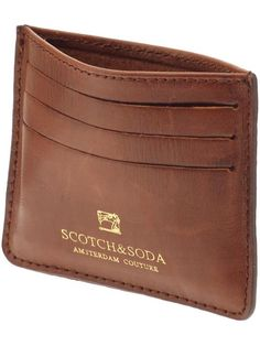 scotch & soda leather wallet for your mountain man. $38