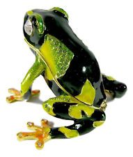 Frog Jewelled & Enamelled Trinket Box or Figurine