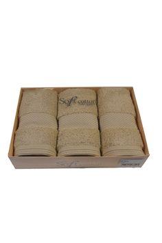 Zestaw podarunkowy małych ręczników DELUXE 32x50 cm z modalowego włókna. Ręczniki o wysokiej gramaturze 650 gr / m² w przypadku których funkcjonuje reguła, że mogą zaabsorbować do 5x więcej wody, niż same ważą na sucho!