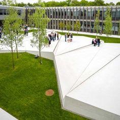 Grønnegården – Herning High School by Schønherr « Landscape Architecture Works | Landezine