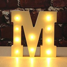 KING DO WAY White Wood Marquee LED Letter Lights Sign Party Wedding Decor Battery Operated Alphabet M -- You can get additional details at the image link. This Amazon pins is an affiliate link to Amazon.