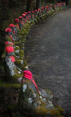 Jizo statues, Tochigi, Japan
