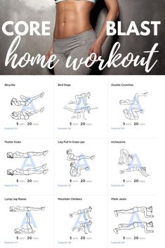 Core Blast Home Workout hardcore absworkout nomuffintop muffintop flatabs getflat bellybulge sixpackabs # Fitness Workouts, Fitness Herausforderungen, Fitness Motivation, Fun Workouts, Physical Fitness, Obesity Workout, Belly Workouts, Tummy Exercises, Health Fitness