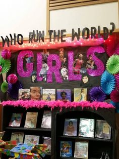 Beyonce themed Library Display at Lacey Timberland Library