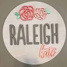 Floral Round Custom Name Wood Sign - Nursery Decor - Name Cut Out - Baby Room - Nursery Decor - Personalized Sign - Custom Wall Decor Cute Girl Names, Unique Girl Names, Boy Names, Baby Boy Name List, Baby Name Signs, Southern Baby Girl Names, Names For Boys List, Baby Crib Diy, Name Wall Decor