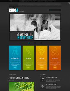 Science Company Web Template