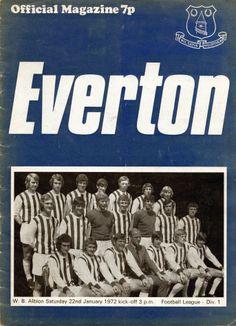 Everton v West Bromwich Albion 1971-72 match programme