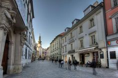 Bratislava's Old Town with an overview of the St. Michael's Gate, a former part of the city's fortification, Slovakia Beautiful Homes, Beautiful Places, Big Country, Old Building, Fortification, Capital City, Homeland, Prague, Czech Republic