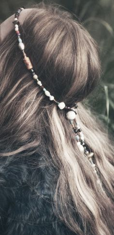 ☆ I love beaded chains in my hair...JW #bornbohemian